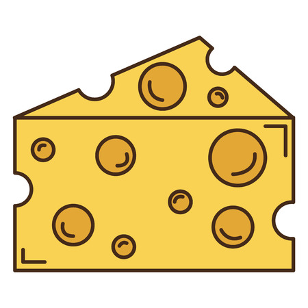 Cheese piece isolated icon vector illustration design Zdjęcie Seryjne - 94244170