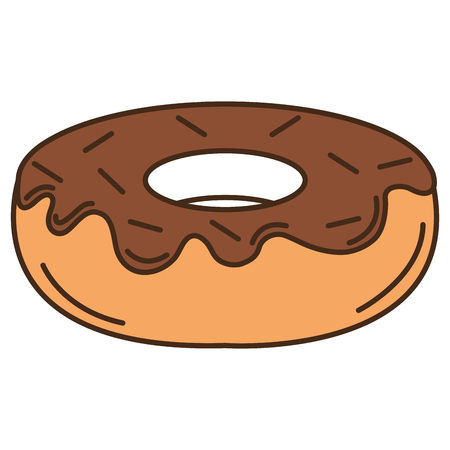 Delicious sweet donut icon vector illustration design 向量圖像