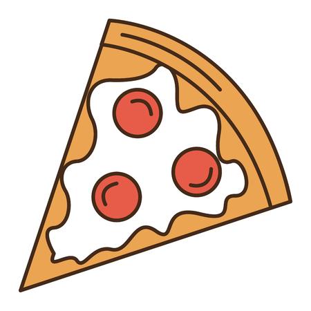Het heerlijke pizza geïsoleerde ontwerp van de pictogram vectorillustratie Stock Illustratie