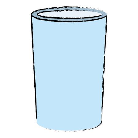 A glass with milk icon vector illustration design Illustration