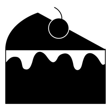 Gâteau sucré icône de la façade illustration vectorielle conception Banque d'images - 94245294
