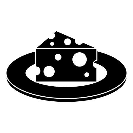 チーズピースとナイフベクトルイラストデザインの料理  イラスト・ベクター素材