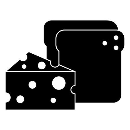 チーズベクトルイラストデザインのパントースト