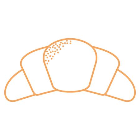 Delicious croissant bread icon vector illustration design. Illustration