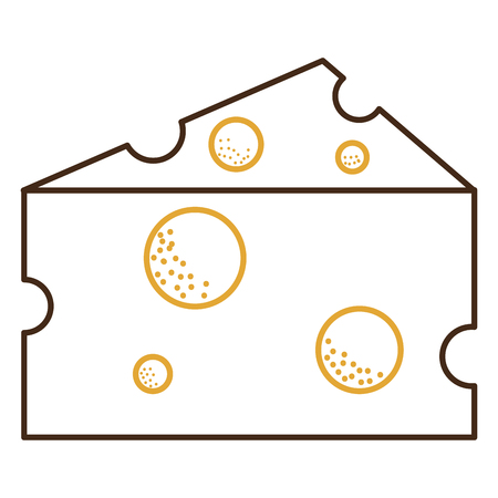 Cheese piece isolated icon vector illustration design. 向量圖像