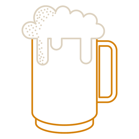 Mug of beer icon isolated on white. Illustration