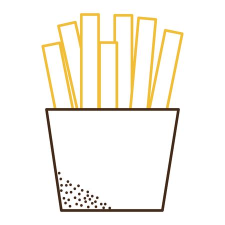 French fries isolated icon illustration. Illustration