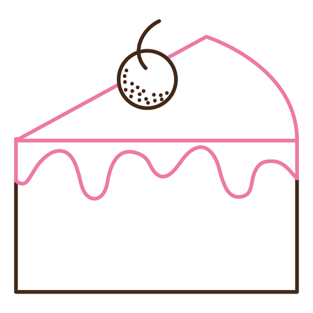 Sweet cake portion icon vector illustration design. Illustration