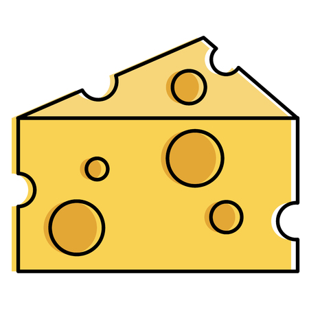 cheese piece isolated icon vector illustration design Фото со стока - 94270528