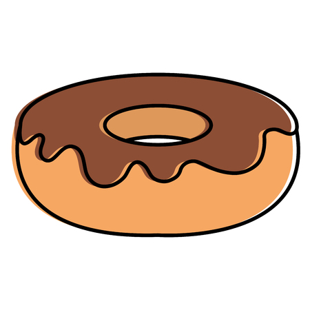 delicious sweet donut icon vector illustration design