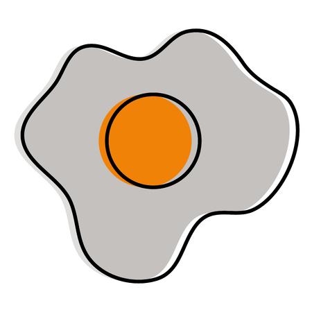 卵揚げ孤立したアイコンベクトルイラストデザイン