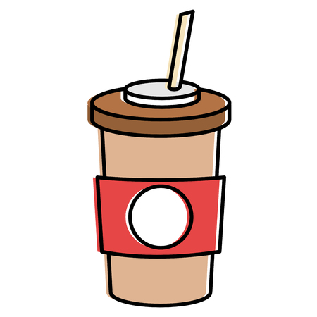 Coffee in plastic container illustration. Illustration