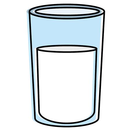 Glass with milk icon vector illustration design