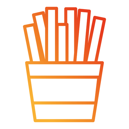 french fries isolated icon vector illustration design