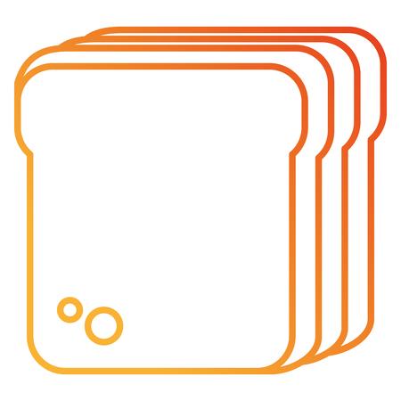 brood toast geïsoleerd pictogram vector illustratie ontwerp Stock Illustratie