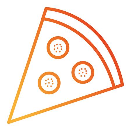 heerlijke pizza geïsoleerd pictogram vector illustratie ontwerp