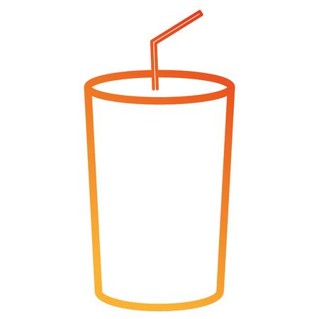 soda glass isolated icon vector illustration design 向量圖像