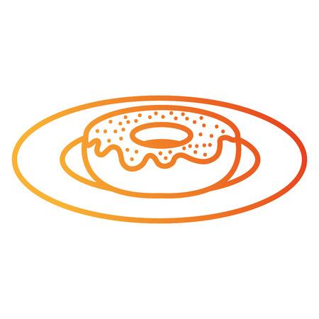 甘いドーナツアイコンベクトルイラストデザインの料理 写真素材 - 94248313