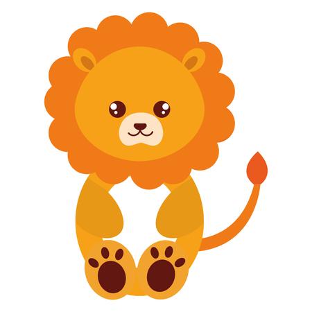 cute and tender lion character vector illustration design Ilustração