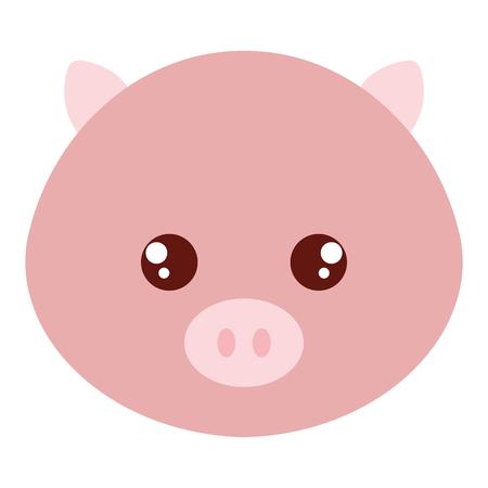 かわいいと柔らかい豚の頭の文字