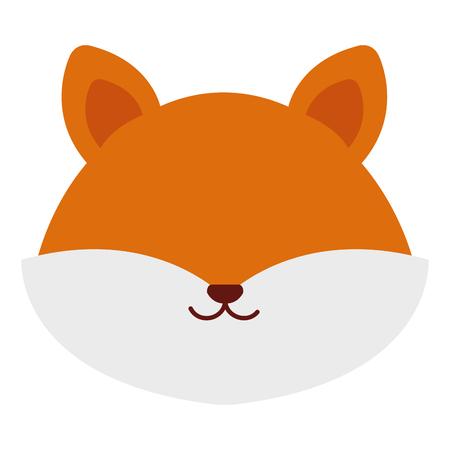 schattig en zacht vos hoofd karakter vector illustratie ontwerp