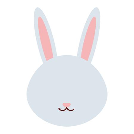 cute and tender rabbit head character vector illustration design 일러스트