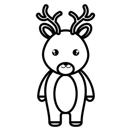 Cute and tender reindeer character