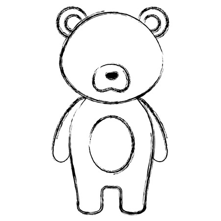 cute and tender bear character vector illustration design Illustration