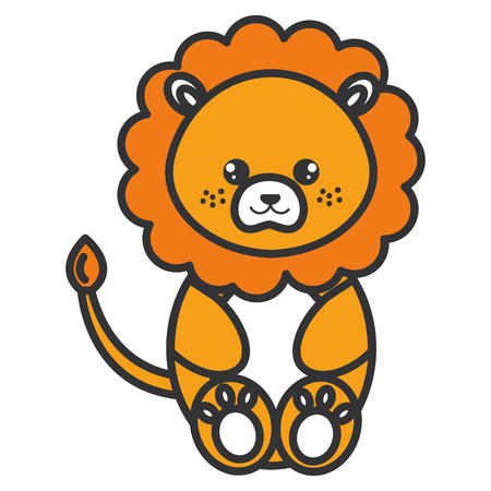 cute and tender lion character vector illustration design 일러스트