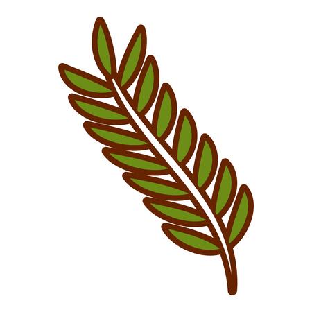 녹색 잎 봄 분기 자연 벡터 일러스트 레이 션
