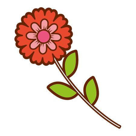 flower stem leaves nature petals decoration vector illustration Иллюстрация