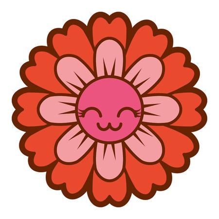 Illustration vectorielle de fleurs dessin animé mignon pétales
