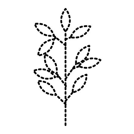 나뭇잎과 자연 봄 벡터 일러스트 스티커 디자인