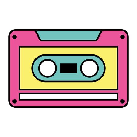 Old retro audio tape record listen vector illustation