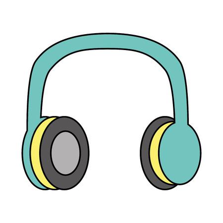 Antiga ilustração em vetor música vintage fones de ouvido estéreo Foto de archivo - 94420545