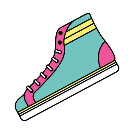 Classic sneaker boot vintage sport vector illustration