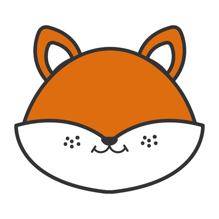 Cute and tender fox head character vector illustration design 向量圖像