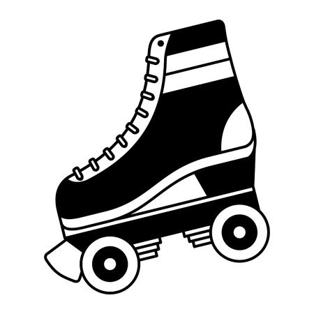 Klassische Roller Skate geschnürt Räder Retro Mode Vektor-Illustration Standard-Bild - 94422045