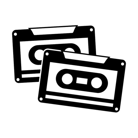 カセットレコーダーテープ音楽ヴィンテージベクトルイラスト  イラスト・ベクター素材