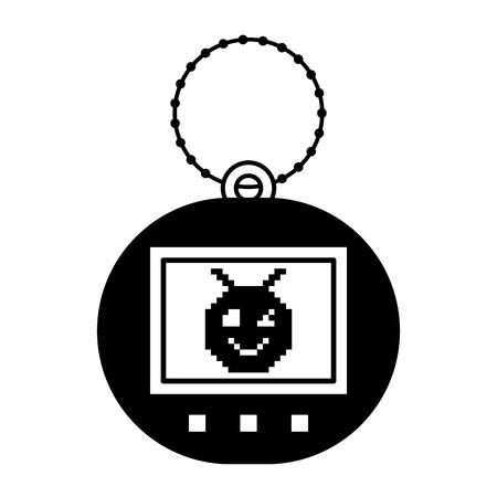 Pets pocket pixelated game illustration.