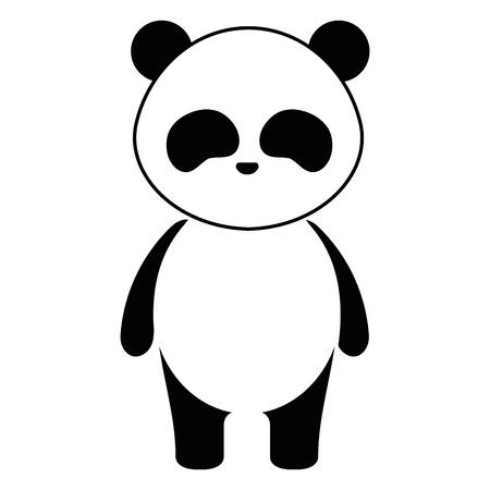 Mignon et tendre ours panda personnage vector illustration design Banque d'images - 94432560