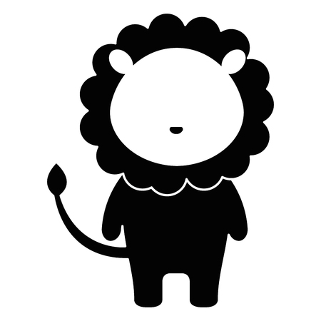 cute and tender lion character vector illustration design 向量圖像