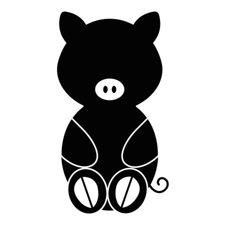 schattig en zacht varken karakter vector illustratie ontwerp Stock Illustratie
