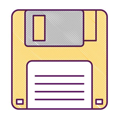 Disketten-Symbol Daten drahtlose Vektor Vektor-Illustration Standard-Bild - 94420010