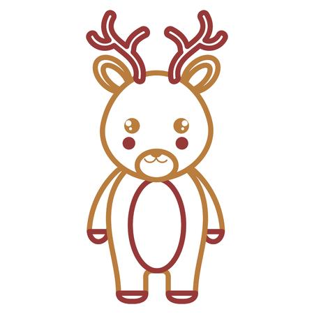 cute and tender reindeer character vector illustration design 일러스트