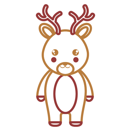 cute and tender reindeer character vector illustration design Illustration