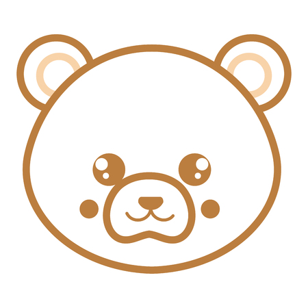 Cute and tender bear head character vector illustration design Иллюстрация