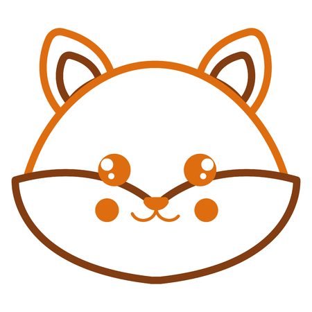 Cute and tender fox head character vector illustration design Иллюстрация