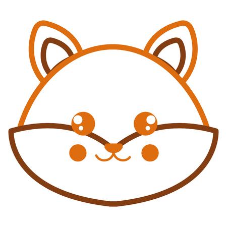 Leuk en teder vector de illustratieontwerp van het vos hoofdkarakter Stock Illustratie