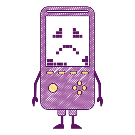 Portable video game console kawaii character vector illustration Illusztráció
